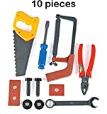 Kids Tool Set - 10 Piece Construction Tool Set – For Kids, Pretend Play, Playset, Fun, Toy, Gift, Prize – By Kidsco