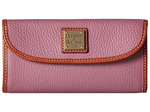 Dooney and Bourke Pebble Leather Continental Clutch Mauve ()