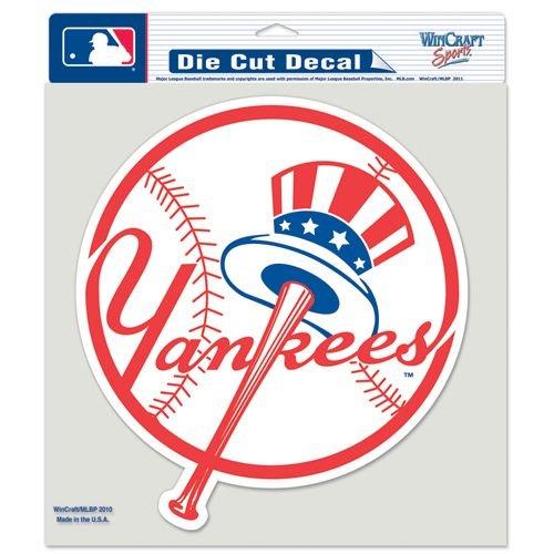 New York Yankees 8x8 (Tophat) Color Die Cut Window Decal