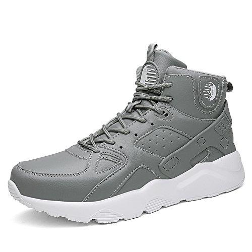 Gym De Fexkean Homme Hautes Baskets Sneakers Sport Fitness Multisports Mode Shoes Running Outdoor Gris Chaussures pSVMqGUz