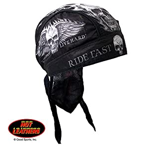 """Hot Leathers Authentic Bikers Premium Headwraps, BAD SCRATCH, """"Ride Fast, Live Hard"""" - High Quality Micro-Fiber HEADWRAP"""