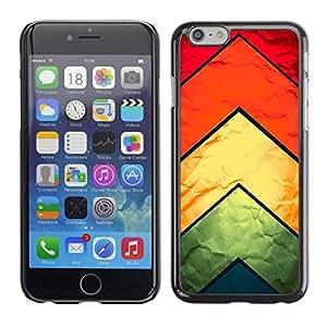 PC/Aluminum Funda Carcasa protectora para Apple Iphone 6 Chevron Kite Fabric Silk Textile Rainbow Pattern / JUSTGO PHONE PROTECTOR