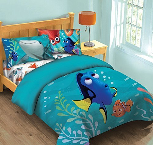 Price comparison product image Disney Finding Dory Fish Finder Twin Comforter Set w/Fitted Sheet