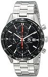 TAG Heuer Men's THCV2014BA0794 Carrera Black Guilloche Dial Watch
