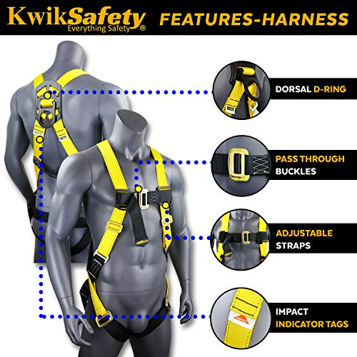KwikSafety (Charlotte, NC) TSUNAMI Kit Vertical Lifeline Assembly 50 ft. Rope Snap hook Integrated Shock Absorber Dry Bag for Gear/Equipment | ANSI OSHA Personal roofing Fall Protection Arrest System by KwikSafety (Image #4)