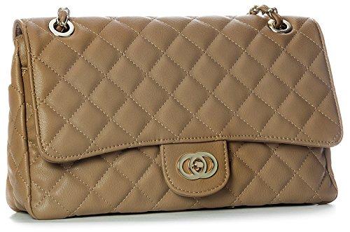 Big Handbag Shop - Bolso al hombro de sintético para mujer Marrón - Medium Tan