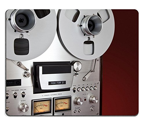 Price comparison product image MSD Natural Rubber Gaming Mousepad Analog Stereo Open Reel Tape Deck Recorder Vintage Device IMAGE 30544921