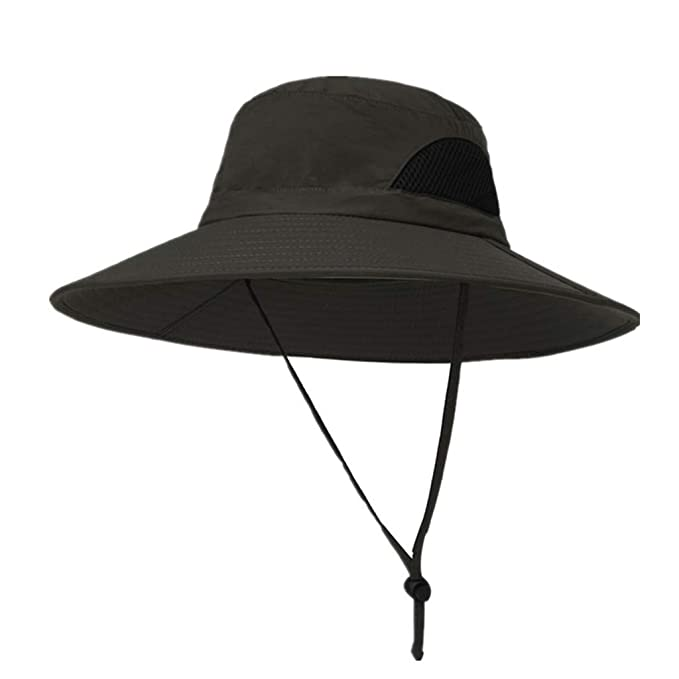 Fashion Unisex Polyester Bucket Hat Summer Fishing Boonie Beach Festival Sun Cap