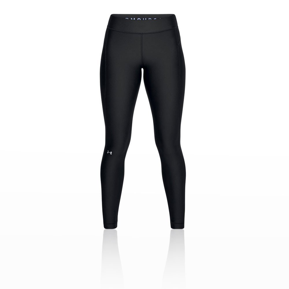 Under Armour UA HG Armour Legging, Pantaloni a Compressione Donna, Nero Black//Metallic Silver XL