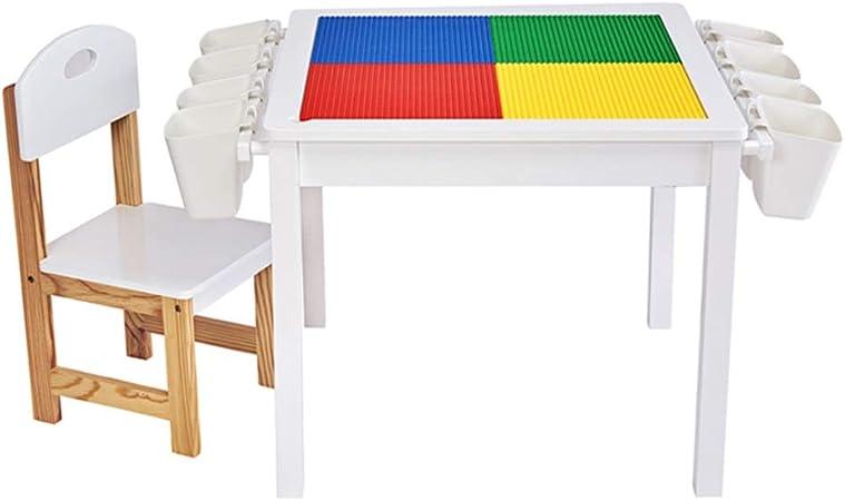 Mesas Mesa De Juegos para Niños Sillas De Jardín Infantil Juguete Mesa De Estudio Y Set De Sillas Mesa De Pintura (Color : Blanco, Size : A): Amazon.es: Hogar
