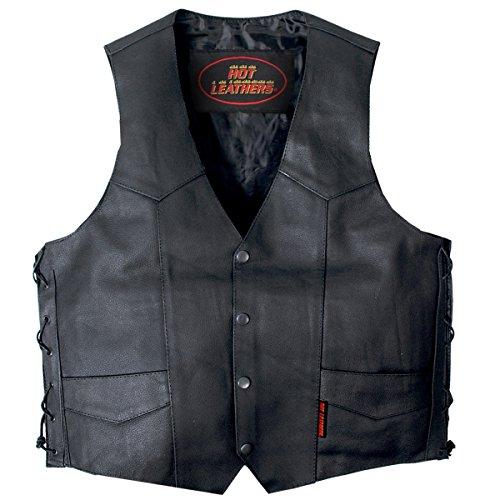 Hot Leathers Unisex-Adult Concealed Carry Leather Vest (Black, X-Large)