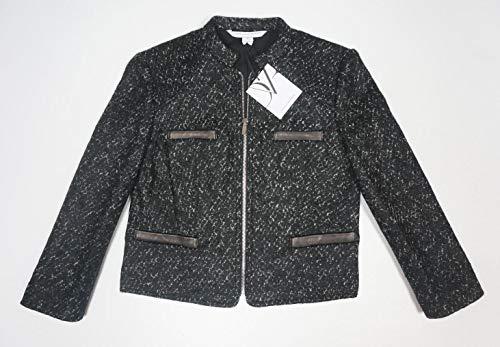 (New $485 DVF Wool Alpaca DIANE VON FURSTENBERG Black Ivory ROCCOCO Jacket)