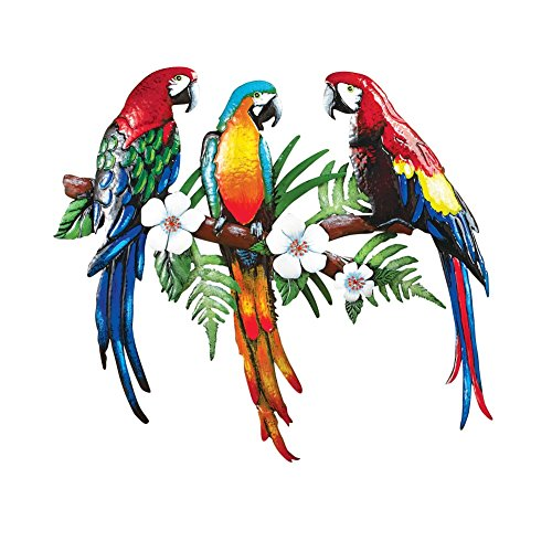 Tropical Parrot Hand Painted D%C3%A9cor Multi