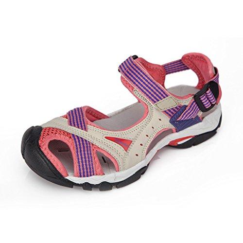 Clorts Frauen Outdoor Wandern Leichtathletik Leichte Amphibische Sandale SD202 Rosa