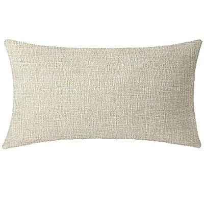 NIDITW Enjoy Summer Hummingbird Tropical Plants Flowers Palm Leaves Waist Lumbar Cotton Linen Throw Pillow case Cushion Cover Sofa Home Decorative Long Oblong 12x20 Inches