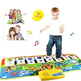 Fat.chot Piano Mat, Multi-function Musical Carpet Baby Toddler Crawling Educational Music Piano Keyboard Blanket Touch Play Safety Animals Learn Singing Funny Toy for 3 year old Kids