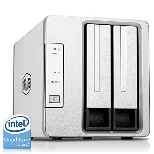 TerraMaster F2-421 NAS 2-Bay Cloud Storage Intel Quad Core 1.5GHz Plex Media Server Network Storage (Diskless) (Best Computer For Plex Media Server)
