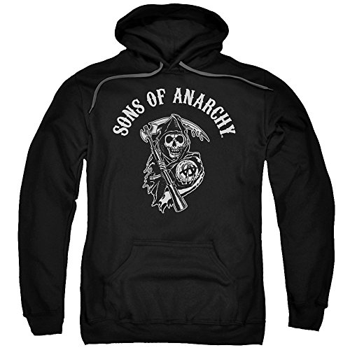 (Sons of Anarchy TV Show SOA Reaper Adult Pull-Over Hoodie Black)