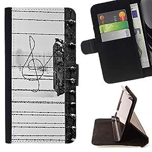 For Sony Xperia Z3 Plus / Z3+ / Sony E6553 (Not Z3) Case , Libertad triste Negro Canción White Fence- la tarjeta de Crédito Slots PU Funda de cuero Monedero caso cubierta de piel