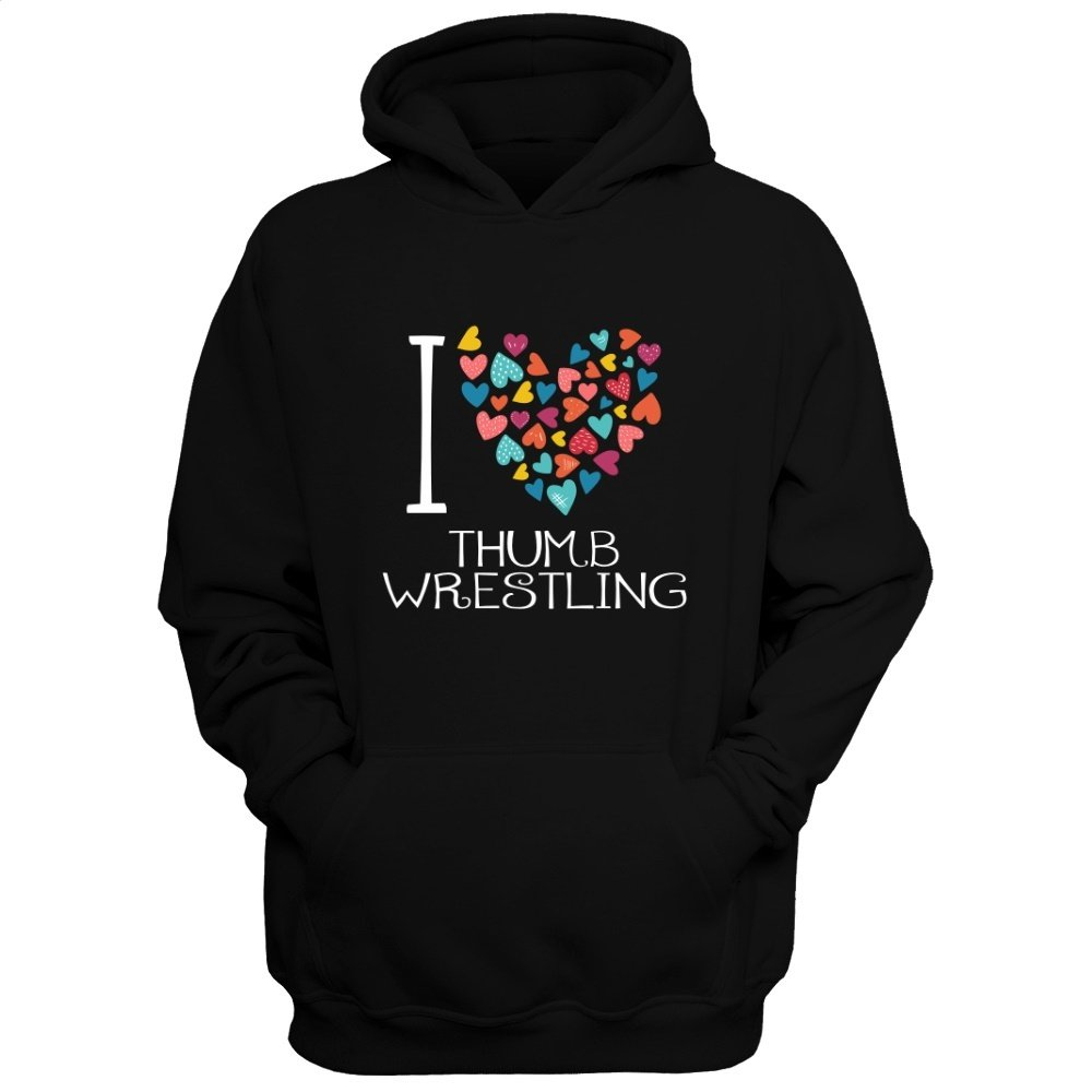 Idakoos Love Thumb Wrestling colorful hearts - Sports - Hoodie by Idakoos