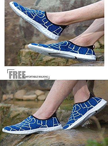 Blankey Scarpe Sportive Da Mare Aqua Quick Slip Slip-on Leggero Per Uomo Donna Bambino Blue1