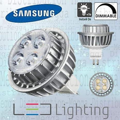 5 bombillas LED de ángulo de haz de 40 grados, intensidad regulable, 7 W