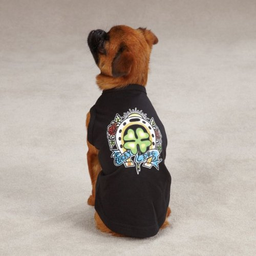 East Side Collection 20-Inch Cotton/Polyester Tattoo Dog Tees, Large, Heart, My Pet Supplies