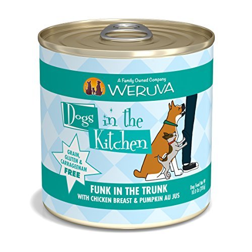 Weruva Dogs In The Kitchen, Funk In The Trunk With Chicken Breast & Pumpkin Au Jus Dog Food, 10Oz Can (Pack Of 12)