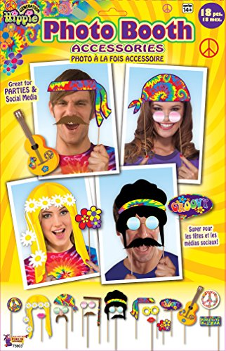 Photo Booth Accessory - Hippie Theme (Grown Up Party Themes)