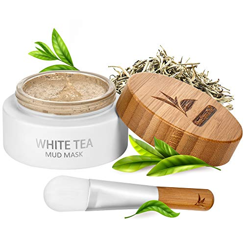 White Tea Face Mud Mask – 100 ml, Antioxidant Clay Facial Treatment, Smoothes Fine Lines, Wrinkles, Deep Cleanse…