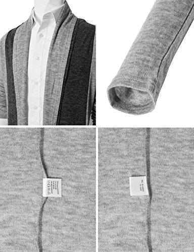 H2H Men Classic Notched Lapel Blazer Cardigan Sweater Khaki US M/Asia L (CMOCAL020) by H2H (Image #4)