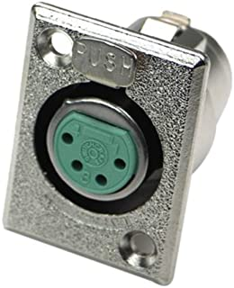Plata Plat Panel Mount 4 Contacto Enchufe Altavoz//Altavoz Conector De Audio
