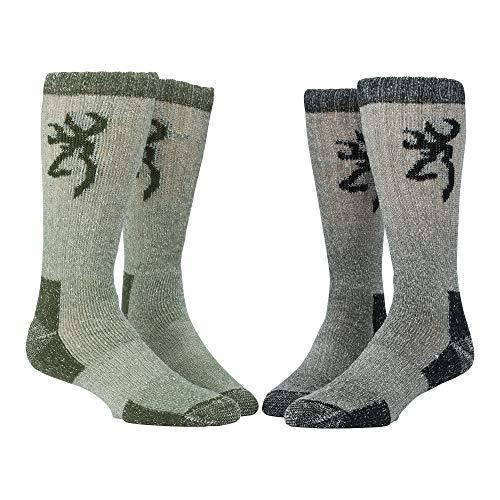 Browning Poplar Sock | Olive/Black | Large | 2-Pack