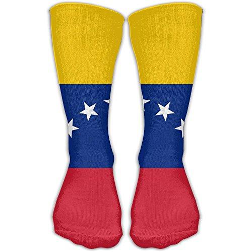 Male Venezuelan Flag Ankle Dress Long Sock Soft Running Soccer Stockings For Men