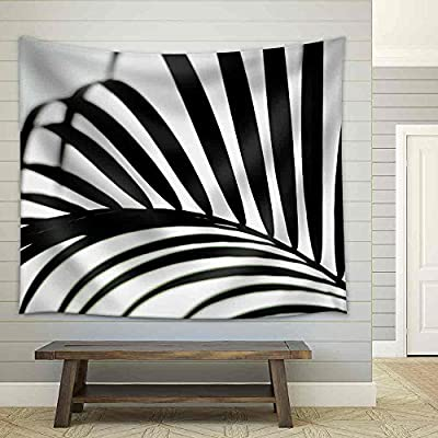 Palm Leaf Black and White Fabric Wall, Quality Creation, Incredible Composition