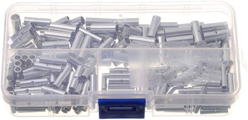 200PCS Box Connecteurs bout /à bout non isol/és Fil de virole de c/âble /électrique non isol/é Bornes de sertissage avec bo/îtier de rangement