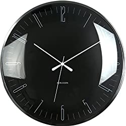 Modern Wall Clock - Dragonfly - Unique & Contemporary Wall Clock (Black)