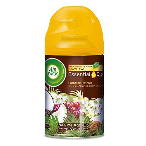 (Air Wick Life Scents Freshmatic Refill Automatic Spray, Paradise Retreat, 6.17oz, Air Freshener)