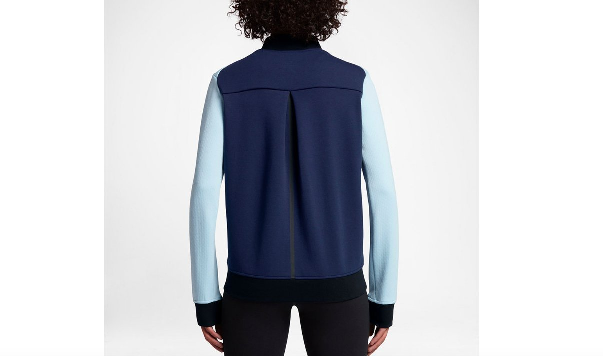 Nike Tech Fleece Destroyer Women's Jacket (S, Glacier Blue/Binary Blue/Black-Black) by Nike (Image #3)
