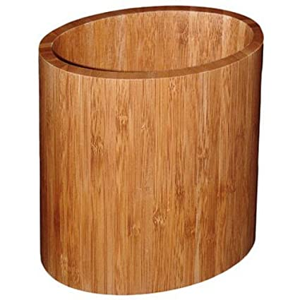 TOTALLY BAMBOO 20-2063 Oval Utensil Holder Standard Plumbing Supply