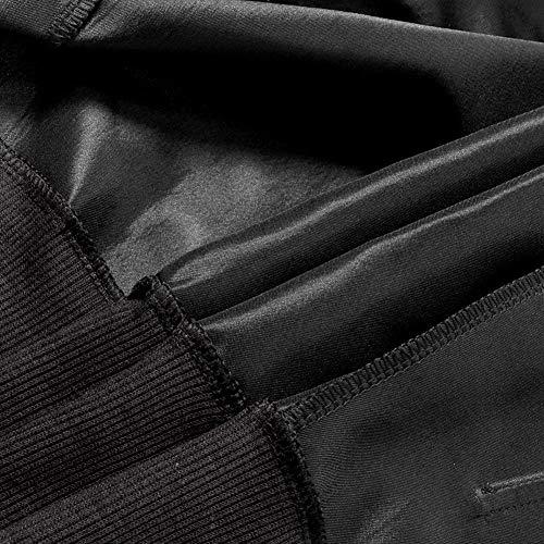 Moda Autunno Schwarz Donna Giacca Biker Con Donne Manica Casual Monocromo Tasche Outerwear Casuale Jacket Lunga Cerniera Corto Cappotto Confortevole Bomber Battercake Raso Elegante wt0Ixq