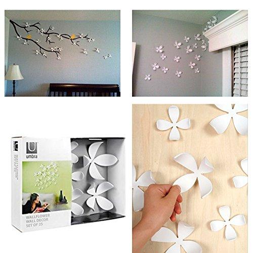 Umbra Wallflower Wall Decor 25 Flowers White Diy Nature Art Home Room Design New 85%OFF