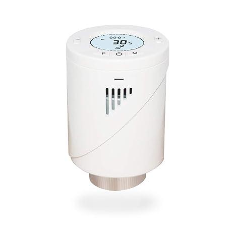 Válvula Inteligente Termostato de calefacción de habitación individual programable Wi-Fi, compatible con Alexa