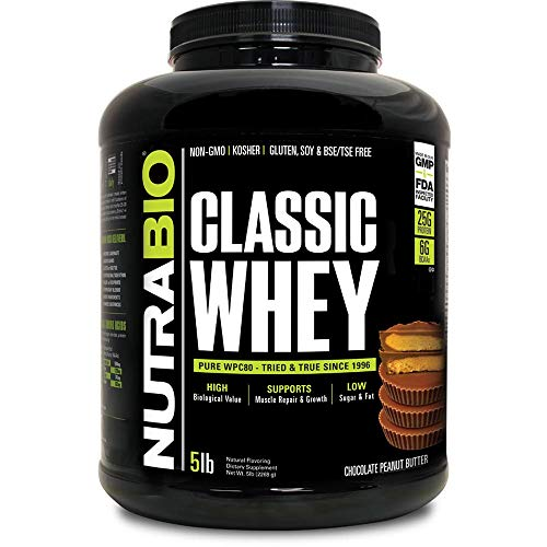 NutraBio Classic Whey – 5 pounds Chocolate Peanut Butter