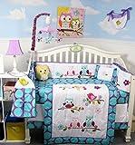 SoHo Lavender Owls Party Baby Crib Nursery Bedding Set 14 pcs