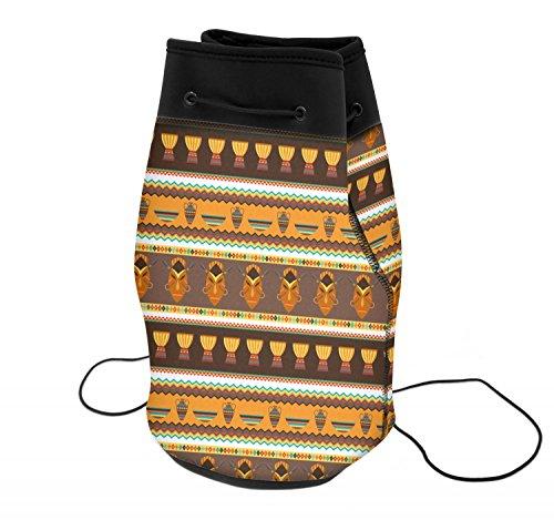 African Stripes Vase (African Masks Neoprene Drawstring Backpack)
