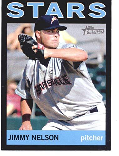 2013 Topps Heritage Minor Leagues Black #55 Jimmy Nelson Baseball Card SER/96 NM-MT