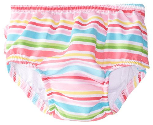 i play. Baby Girls' Mix n Match Ultimate Ruffle Snap Swim Diaper Pink Multi Large (12-18 Months) i play Children's Apparel 711153