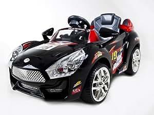 black hot racer kids electric power ride on car mp3 rc remote sport wheels toys. Black Bedroom Furniture Sets. Home Design Ideas