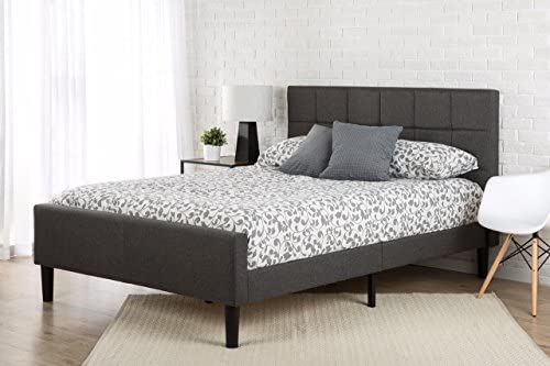 Zinus Lottie Upholstered Platform Grey Bed Frame